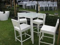 שולחן ראטן 80-80 4 רגליים